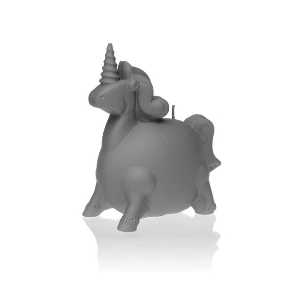 Gray Matt Unicorn Candle