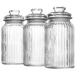 Set of 3 Vintage Airtight Glass Jars | M&W 1300ml New - Image 3