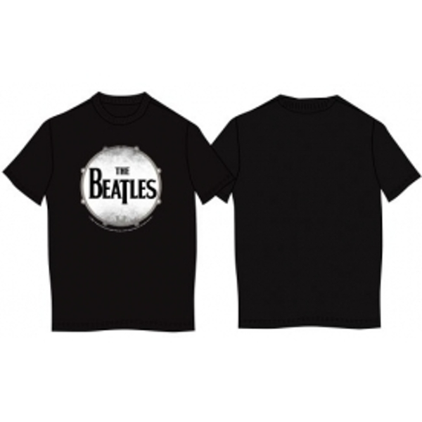 The Beatles Drumskin Black T Shirt: Small