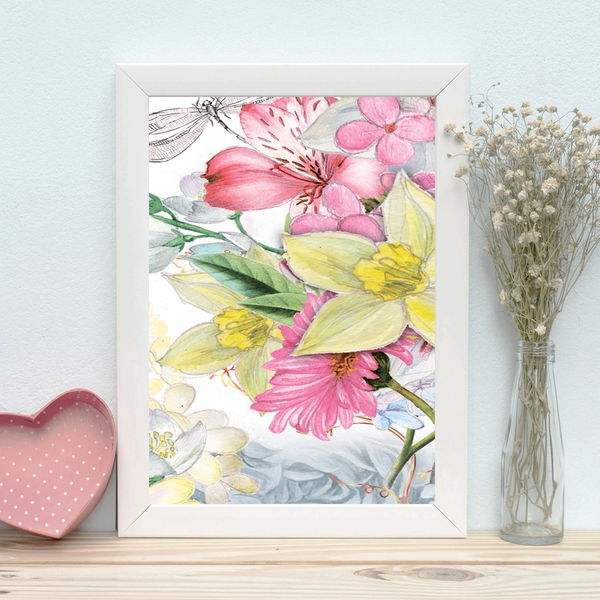 BC2177121975 Multicolor Decorative Framed MDF Painting