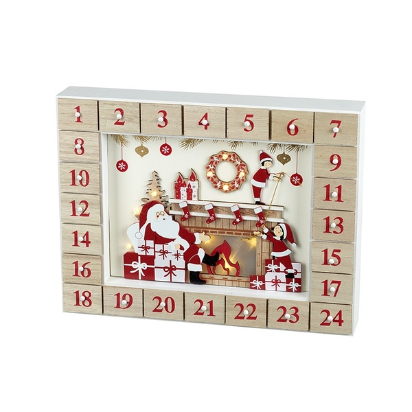 Wooden Santa Delivering Presents Advent Calendar by Heaven Sends