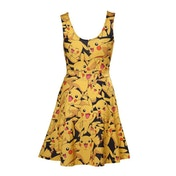Pokemon Woman's All-over Pikachu Printed Sleeveless Small Dress - Black