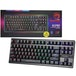 Marvo Scorpion KG901 RGB LED Compact Gaming Keyboard with Mechanical Blue Switches - Image 2