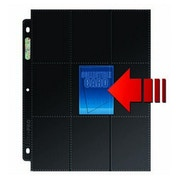 Ultra Pro 18-Pocket Platinum Side Load Page with Black Background (50 pages, 3 holes)