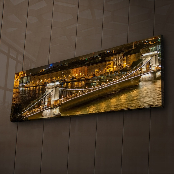 3090?ACT-57 Multicolor Decorative Led Lighted Canvas Painting