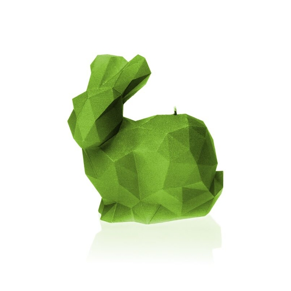 Lime Large Rabbit Candle