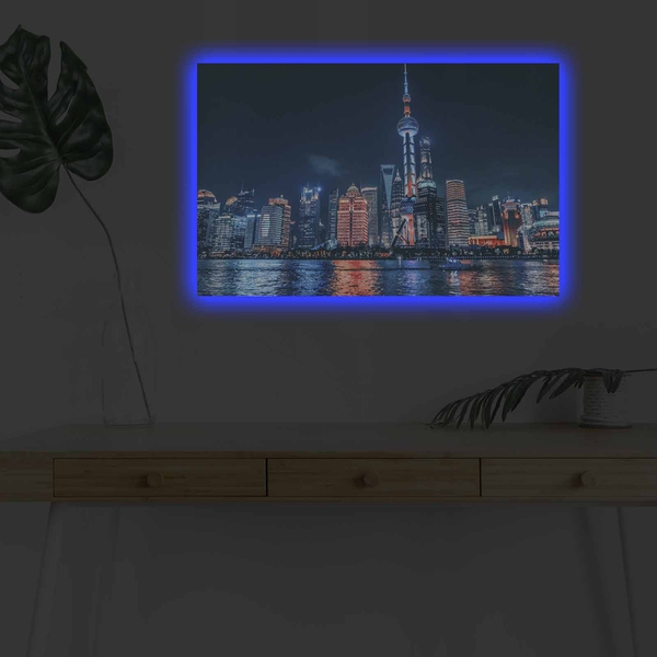 4570DHDACT-018 Multicolor Decorative Led Lighted Canvas Painting