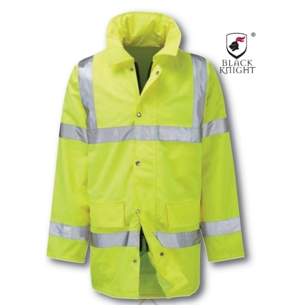 Black Knight X-Large Geraint 3/4 High Visibility Jacket - Yellow