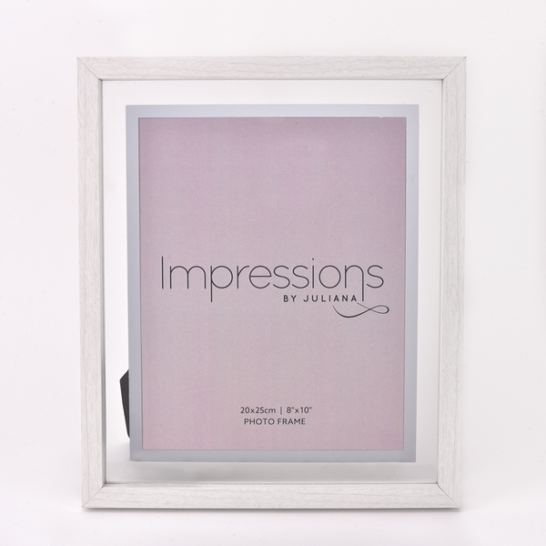 """Impressions White Wooden Frame Perspex Border 8"""" x 10"""""""