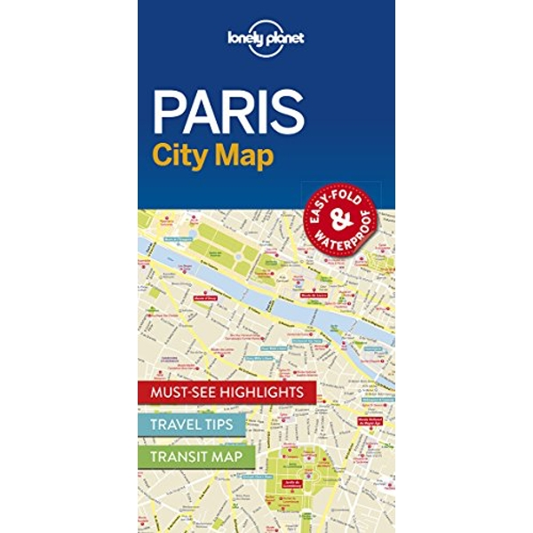 Lonely Planet Paris City Map  Sheet map, folded 2016