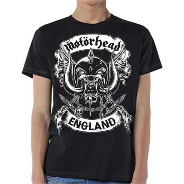 Motorhead - Crossed Swords England Crest Unisex Small T-Shirt - Black