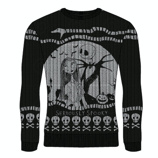 Image of Nightmare Before Christmas - Seriously Spooky Unisex Large Knitted Jumper - Multi-Colour