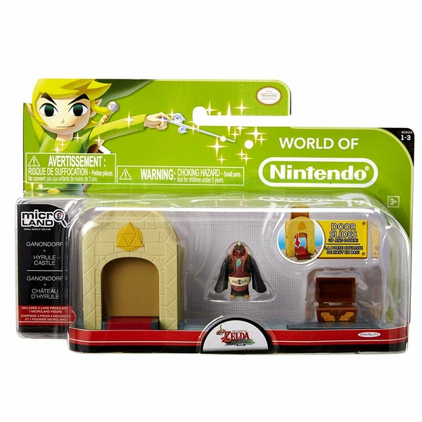Ganondorf & Hyrule Castle (The Legend Of Zelda) Microland Action Figure