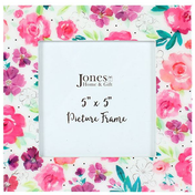 Floral Fusion Square Picture Frame
