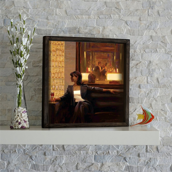 KZM558 Multicolor Decorative Framed MDF Painting