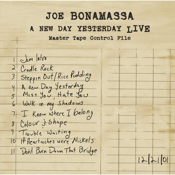 Joe Bonamassa - A New Day Yesterday Live CD