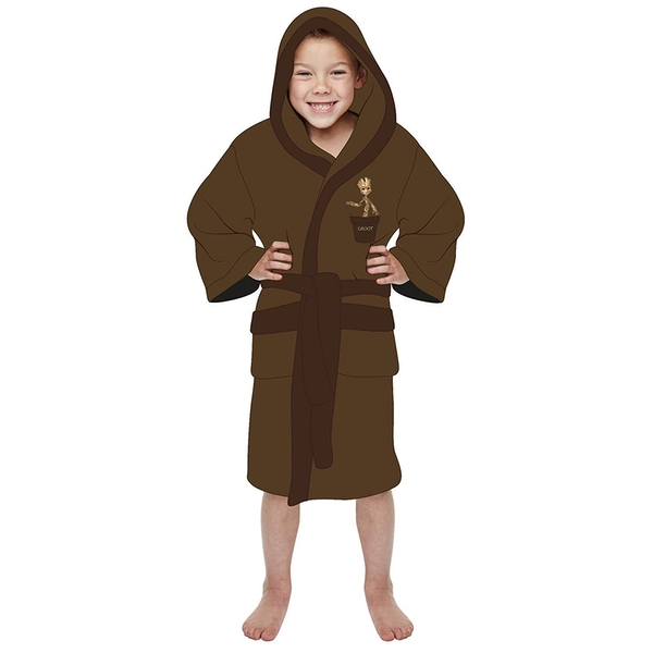 Groot Guardians of the Galaxy Marvel Brown Kids Robe Medium 7-9 years