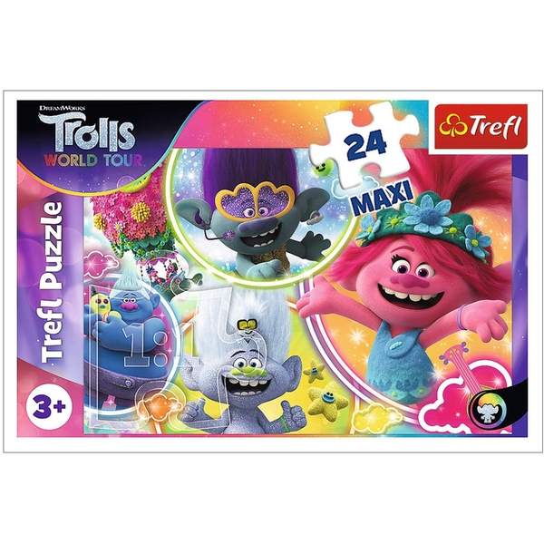 The Music World Of Trolls Jigsaw Puzzle - 24 Pieces