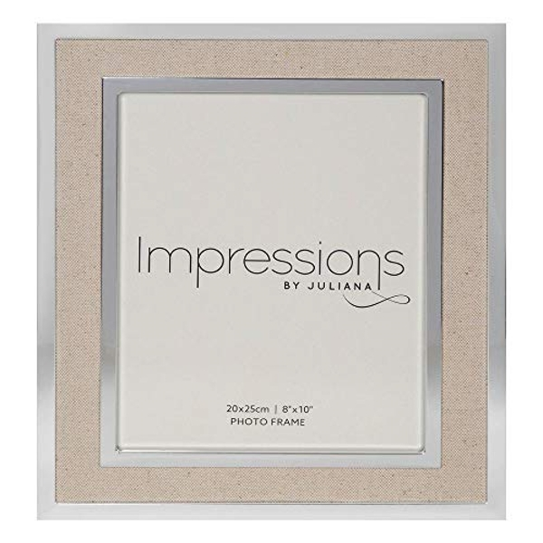 "8"" x 10"" IMPRESSIONS? Silver Finish Frame with Canvas Border"