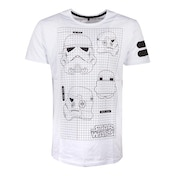 Star Wars - Tk-421 Imperial Army Helmet Grid View Men's X-Large T-Shirt - White