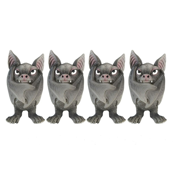 Fang (Set of 4) Gothic Bats with Wings Closed Figurine