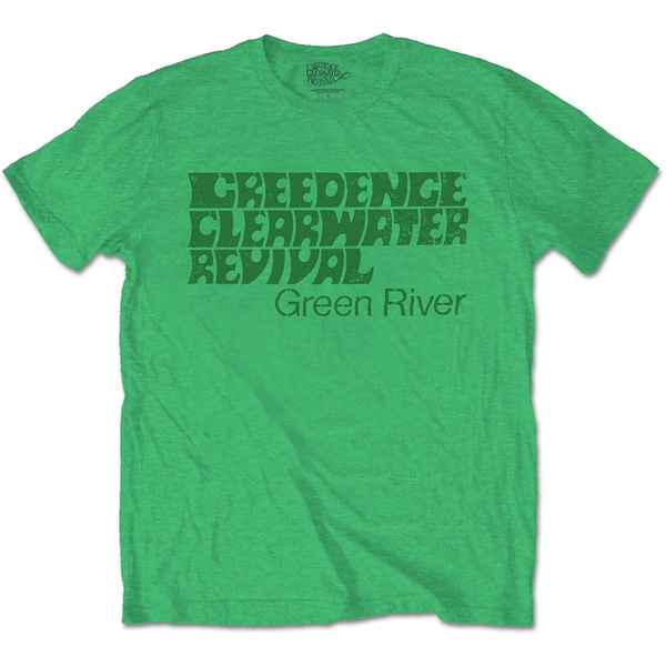 Creedence Clearwater Revival - Green River Unisex Large T-Shirt - Green