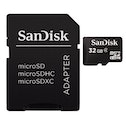 SanDisk microSDHC 32GB Class 4 + SD Adapter Photo
