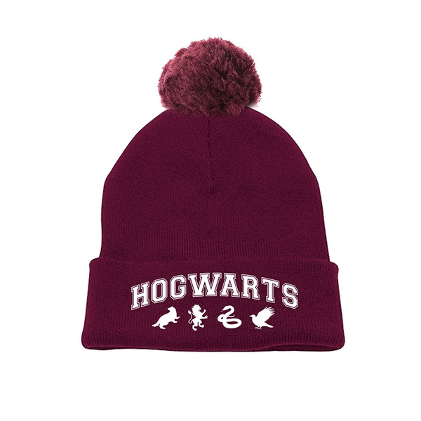 Harry Potter - Hogwarts Pompom Beanie - Red