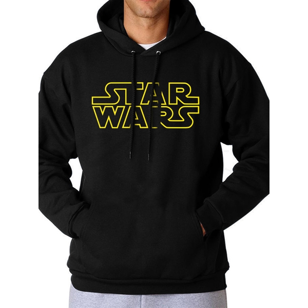 Star Wars - Logo Men's Medium Hooded Sweatshirt - Black