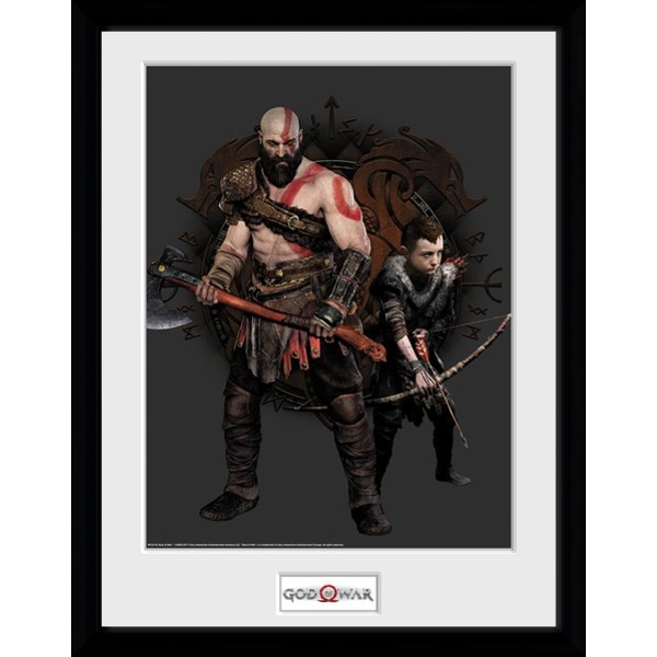 God of War Kratos and Atreus Collector Print
