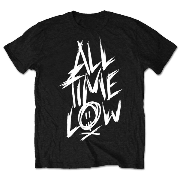 All Time Low - Scratch Unisex Large T-Shirt - Black