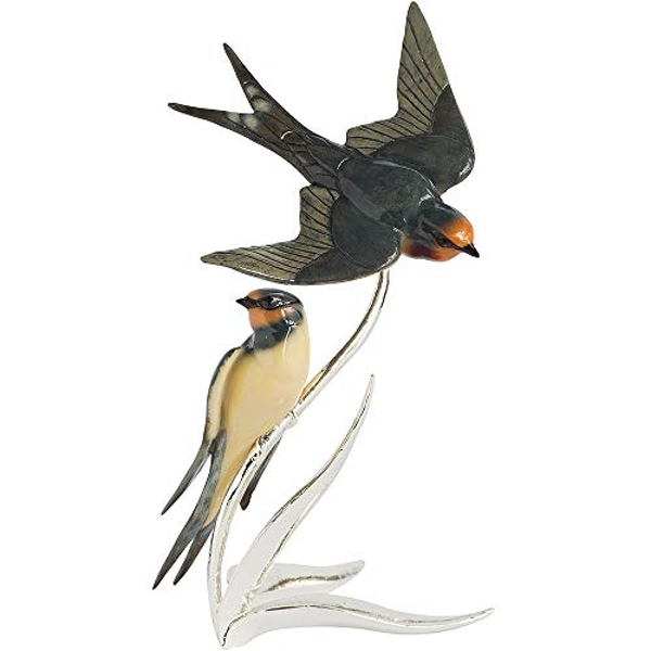 Arora 1504 Natures Realm Swallow Pair Bird Figurine, Multicolour, One Size