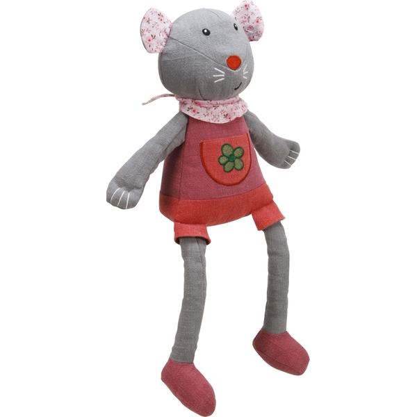 Miss Mouse Woven Fabric Plush