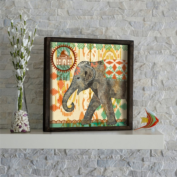 KZM516 Multicolor Decorative Framed MDF Painting