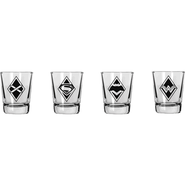 Batman Vs Superman (Set Of 4) Mini Glasses