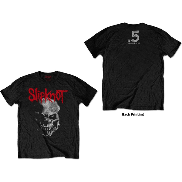 Slipknot - Gray Chapter Skull Unisex Large T-Shirt - Black