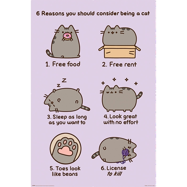 Pusheen - Reasons to be a Cat Maxi Poster