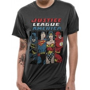 Justice League Comics - Lineup Men's Medium T-Shirt - Black