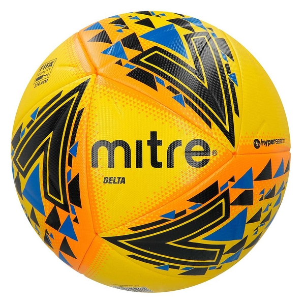 Mitre Delta Professional Ball Yellow Size 5