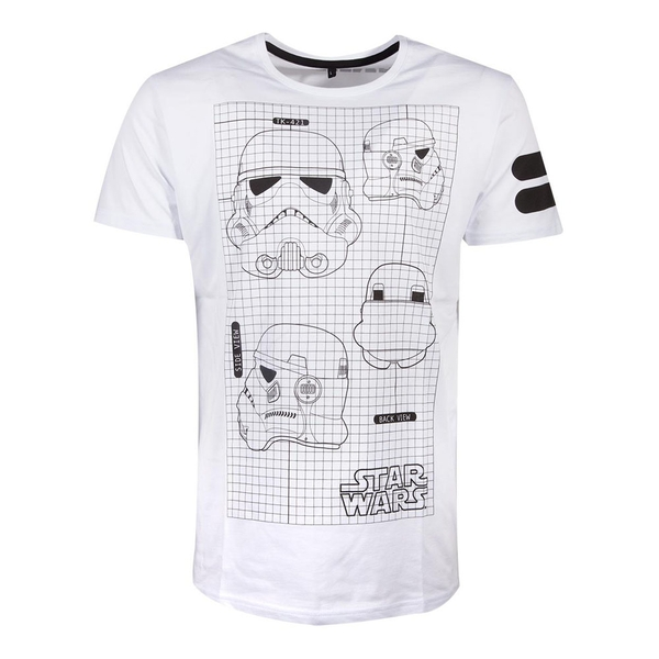 Star Wars - Tk-421 Imperial Army Helmet Grid View Men's Small T-Shirt - White
