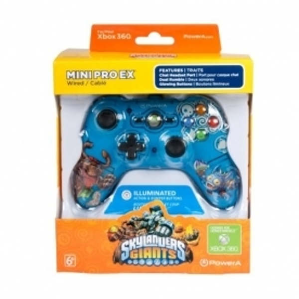 Skylanders Giants Mini Pro EX Wired Blue Controller Xbox 360