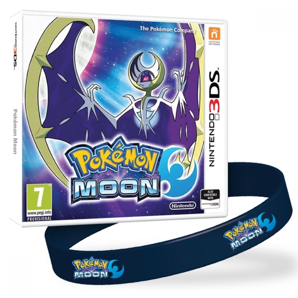 Pokemon Moon 3DS Game + Wrist Band