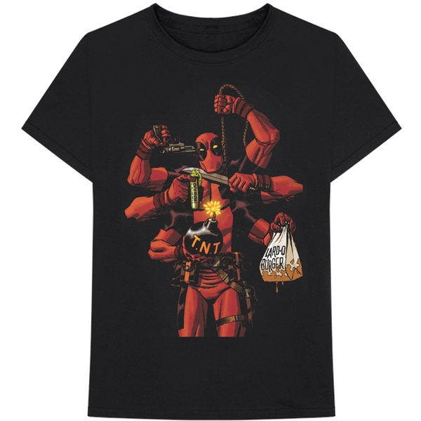 Marvel Comics - Deadpool Arms Men's Large T-Shirt - Black