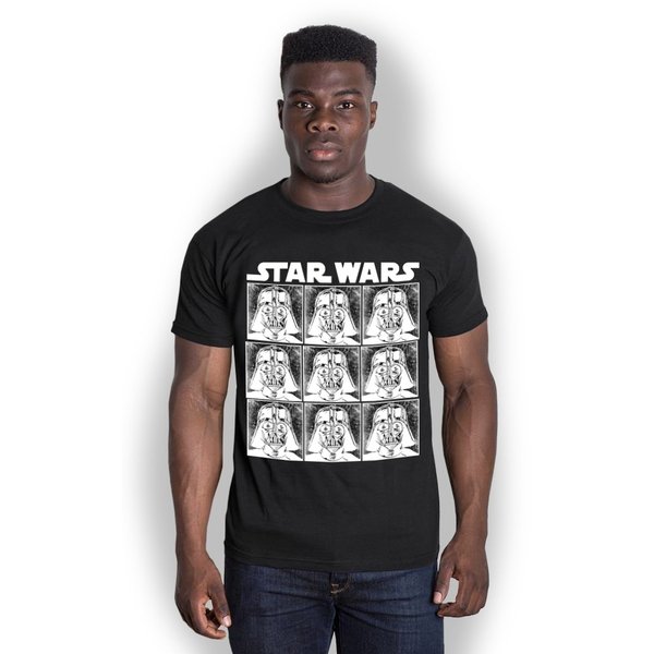 Star Wars - Vader Repeat Unisex XX-Large T-Shirt - Black