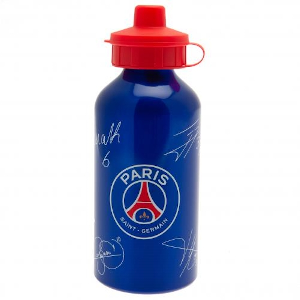 Paris Saint Germain FC Aluminium Drinks Bottle Signed