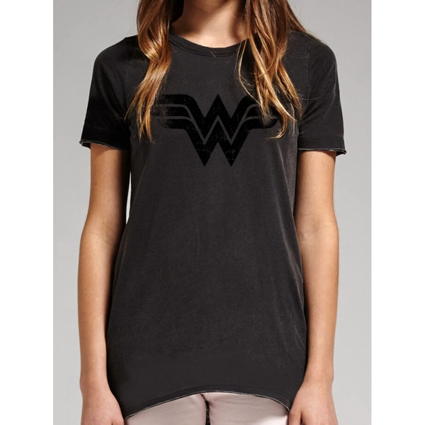 Wonder Woman - Vintage Logo Women's X-Large T-Shirt - Black