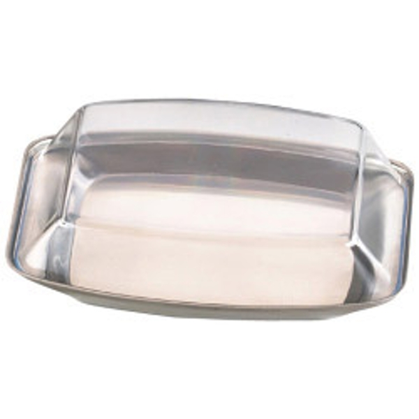 Zodiac Stainless Steel Butter Dish with Plastic Clear Lid