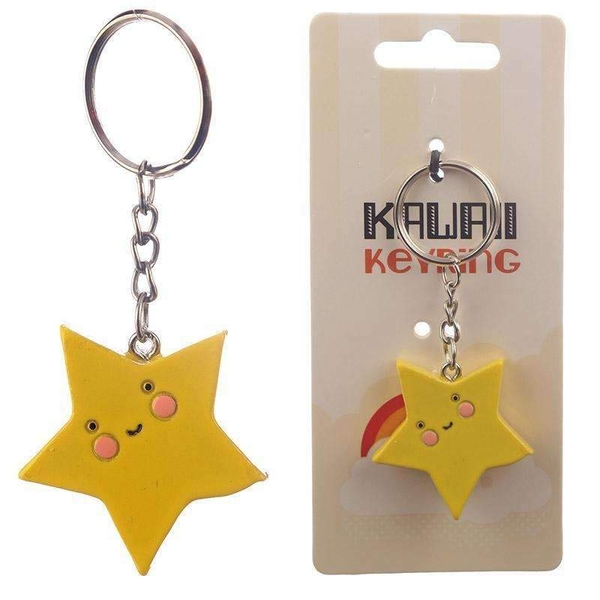 Kawaii Star Keyring