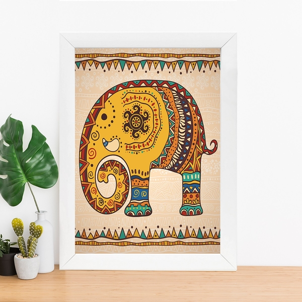 BC373232290 Multicolor Decorative Framed MDF Painting