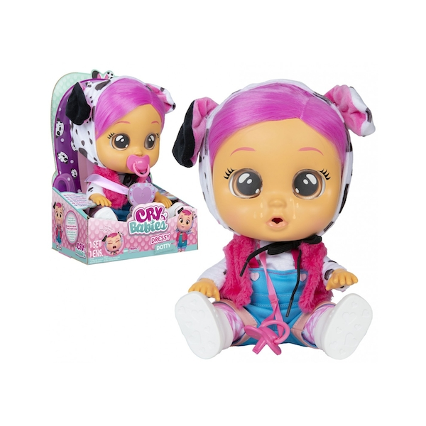 Dotty Cry Babies Dressy Interactive Doll